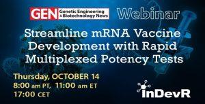 GEN Webinar  - October 14, 2021: Streamline mRNA Vaccine Development with Rapid Multiplexed Potency Tests